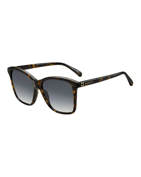47e2af3aabe Givenchy 55Mm Gradient Square Sunglasses - Dark Havana