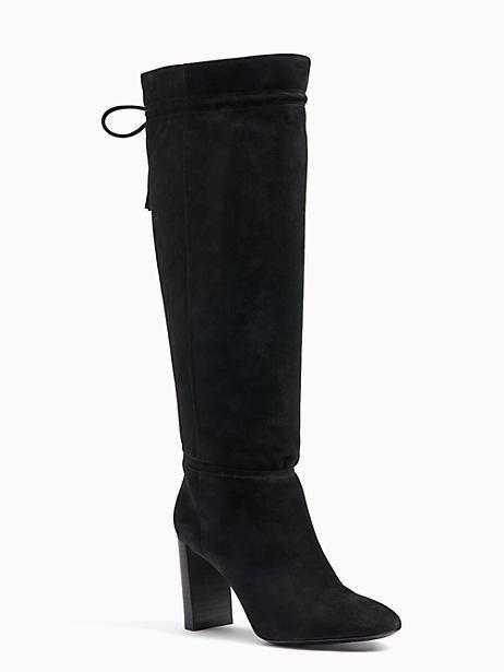 074aeff3bd112 Kate Spade Hazel Suede Tassel Boots In Black Suede