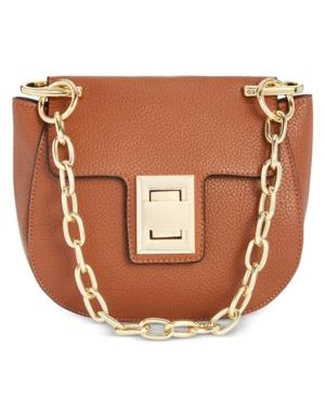c7f9ec8710 Steve Madden Draped Chain Faux Leather Crossbody Bag - Brown In Cognac/Gold