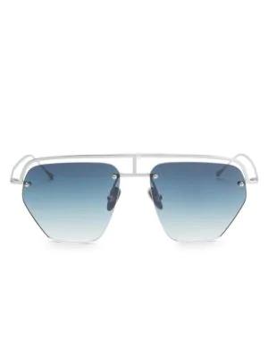 Smoke X Mirrors The Line-1 52Mm Aviator Browline Sunglasses In Matte White