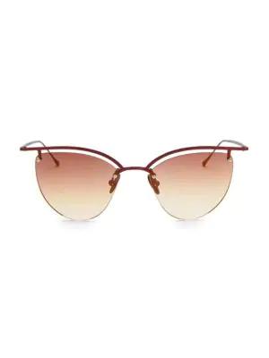 Smoke X Mirrors The Line 4 52Mm Cateye Sunglasses In Scarlet