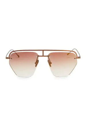 Smoke X Mirrors The Line-1 52Mm Aviator Browline Sunglasses In Matte Brown