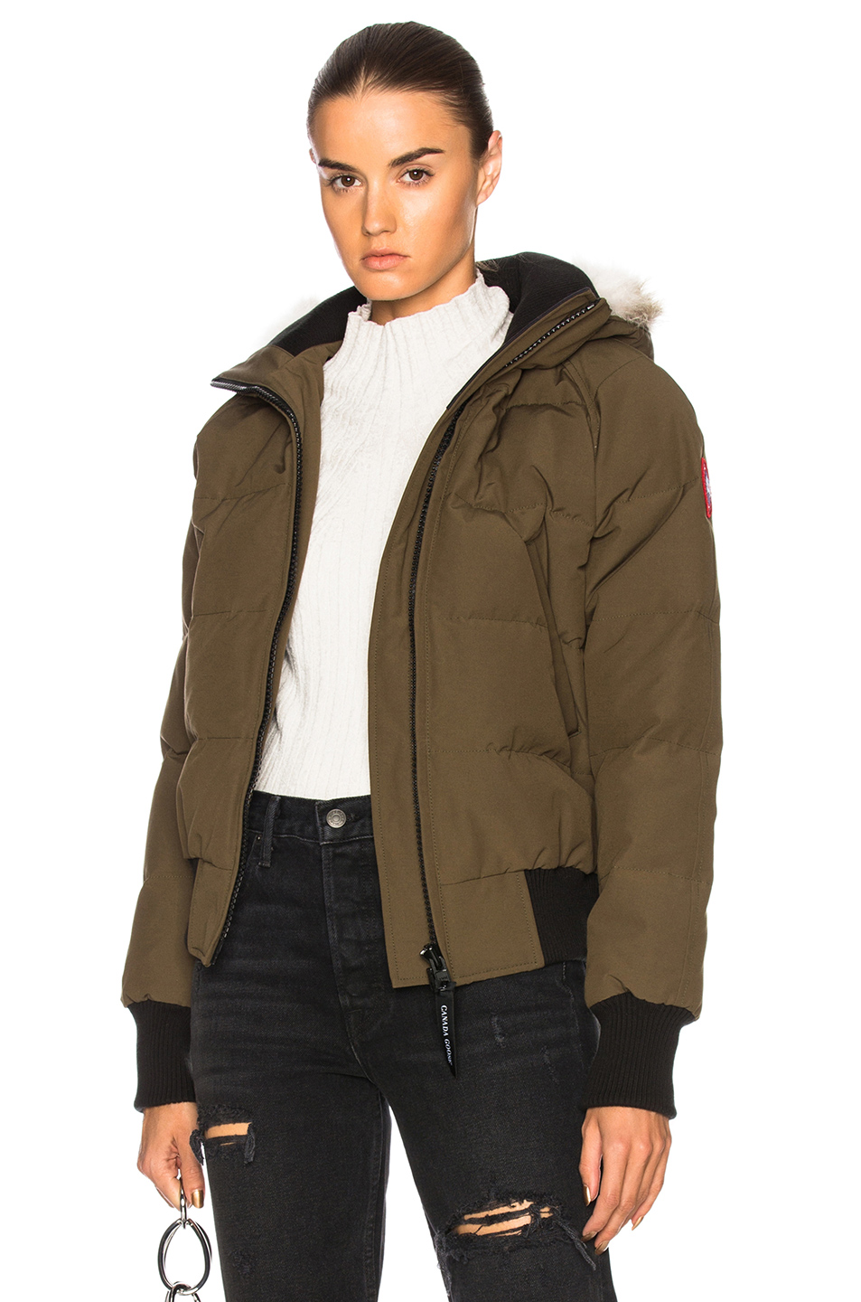 1a623079f387 Canada Goose Green Down Savona Jacket In Military Green