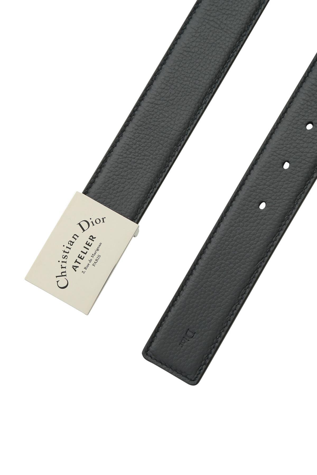 49d9b4b0f5 LEATHER BELT WITH LOGO PLACKET
