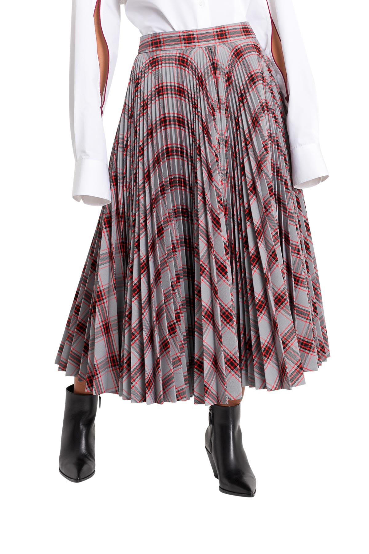 fa6e47b0017d Calvin Klein Checked Pleated Skirt In Multicolor | ModeSens