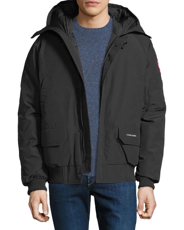 6462d3e98 Men's Chilliwack Down Bomber Jacket W/ Fur Hood in Black