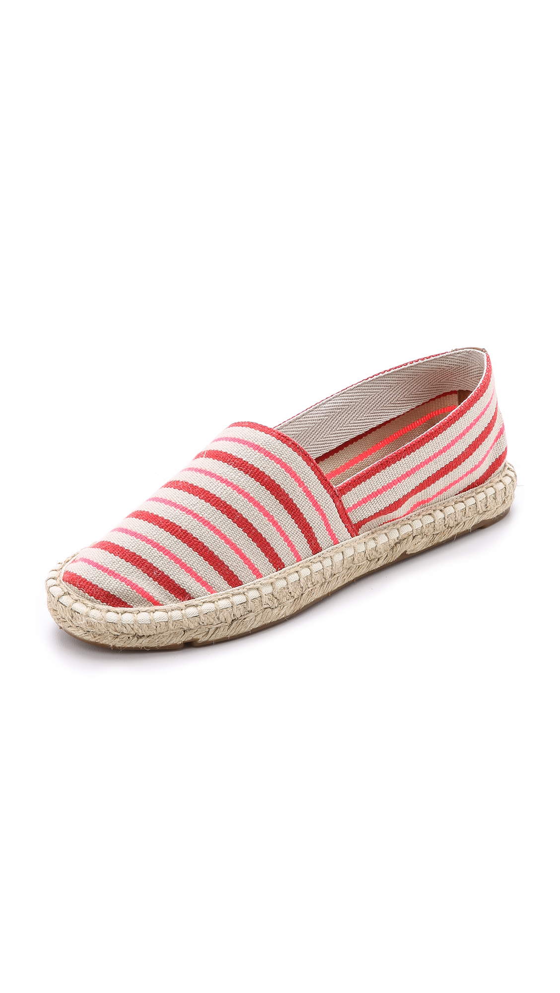 Tory Burch Slip On Espadrilles In Linen/Fluo Yellow/Tory Navy;Linen/Fluo Pink/Masai Red