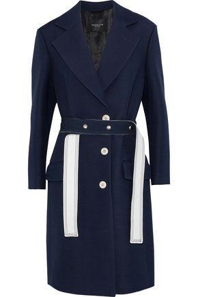Derek Lam Woman Wool And Silk-Blend Crepe Jacket Navy