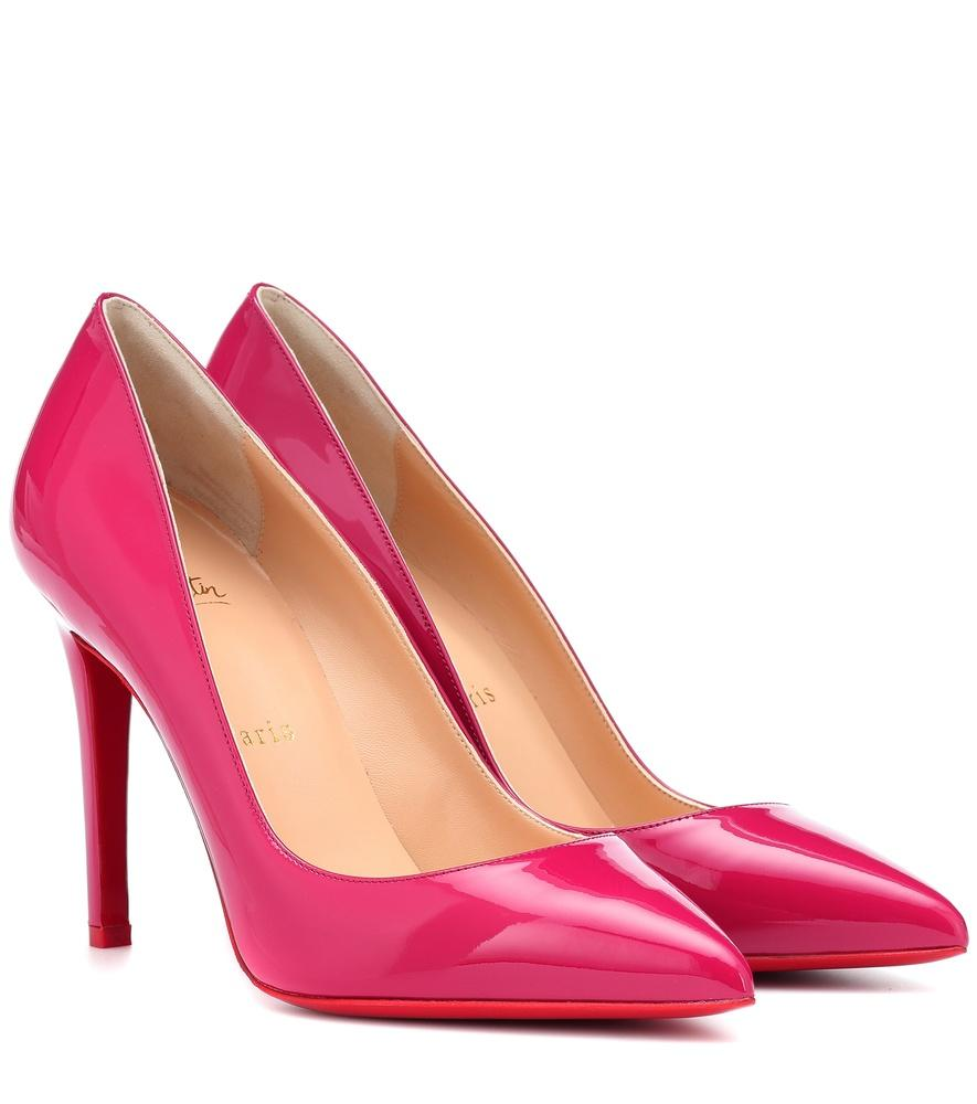 02dac56de355 Christian Louboutin Pigalle 100 Patent Leather Pumps In Pink