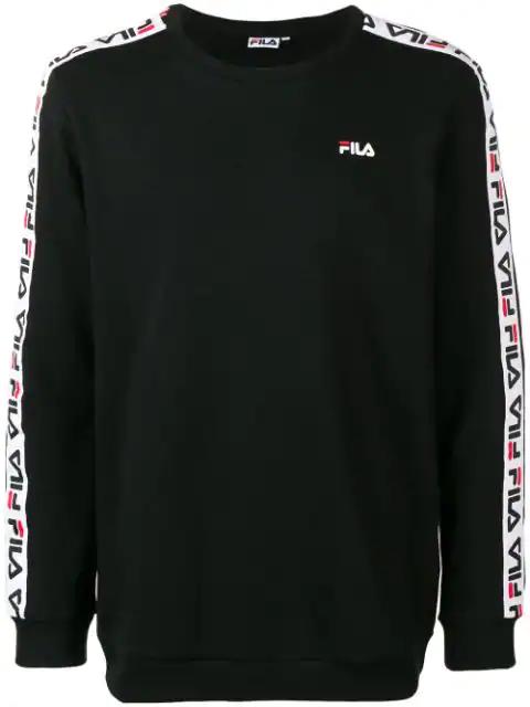 Fila Sweatshirt Mit Logostreifen In 002 Black