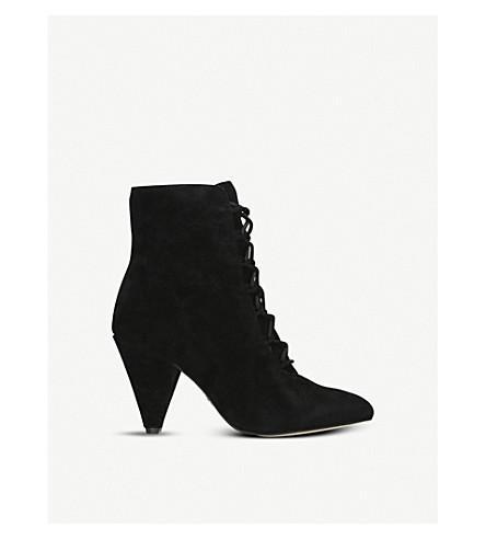 6e899255ddc3d Kurt Geiger London Kurt Geiger Vivian Black Suede Lace Up Heeled Ankle Boots  - Black