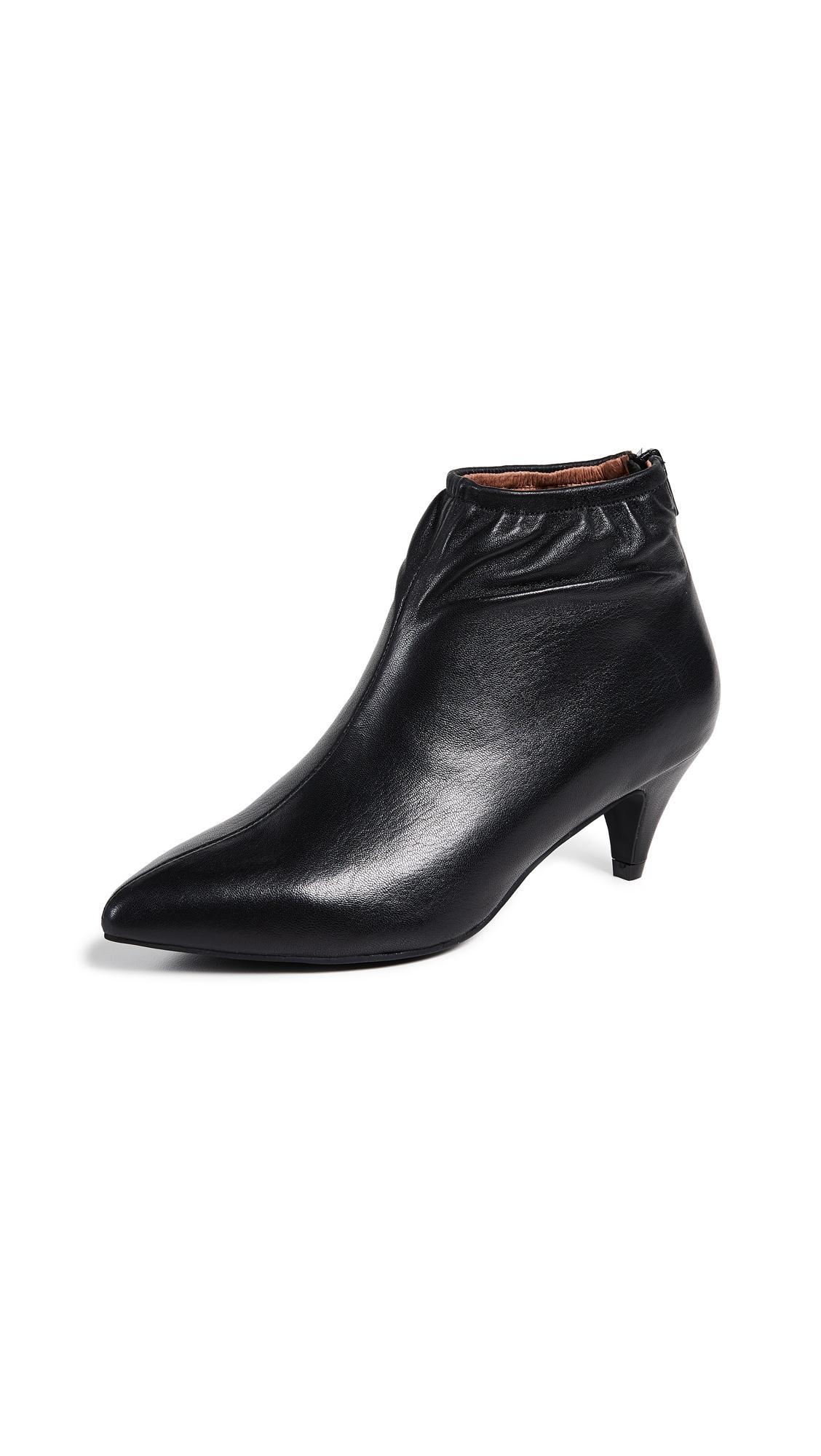 1966e4b0559 Jeffrey Campbell Zosia Low Heel Booties In Black