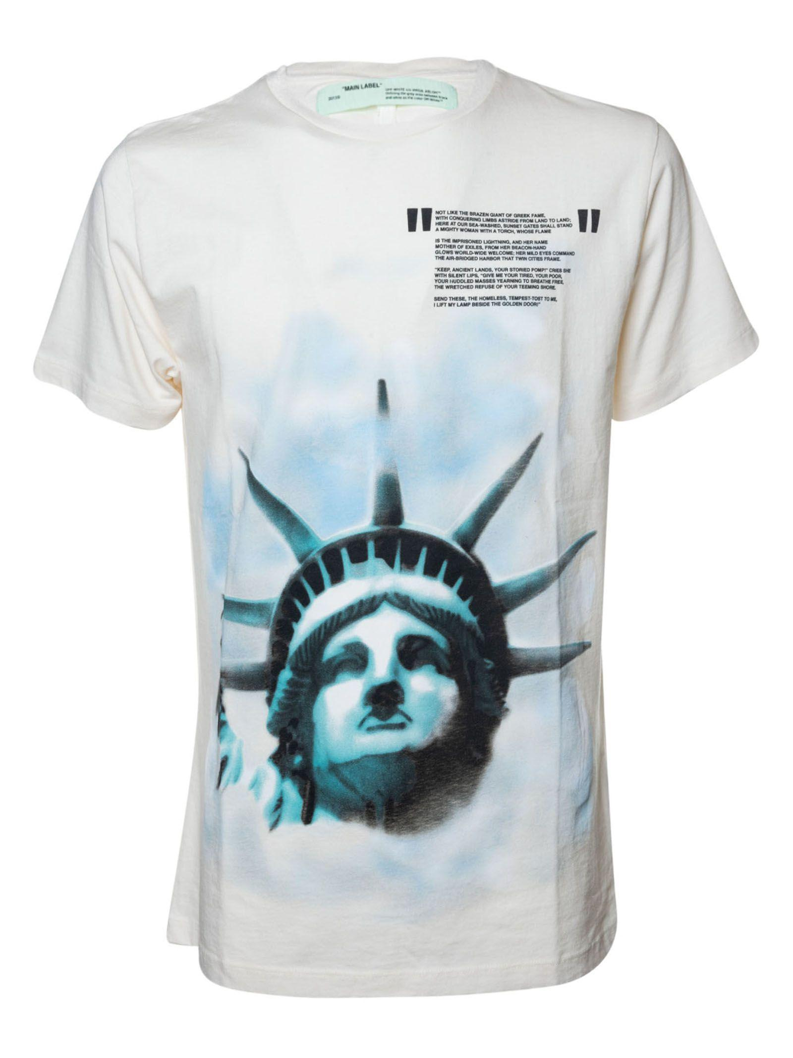 Off-White Statue Of Liberty Print T-Shirt in Off White Black