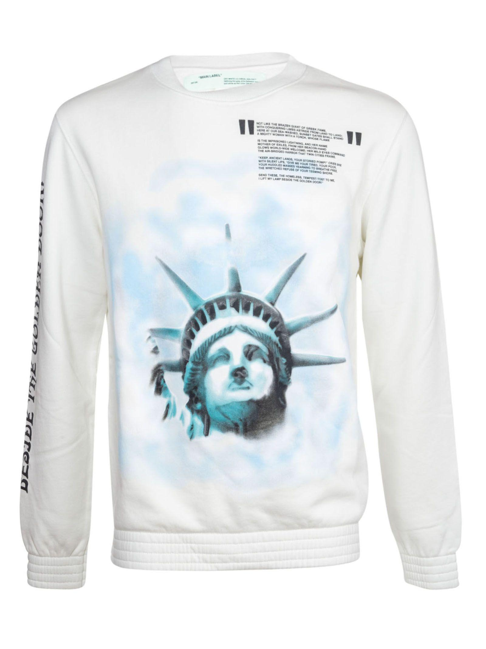 Off-White Statue Of Liberty Print Sweatshirt in Off White All Over