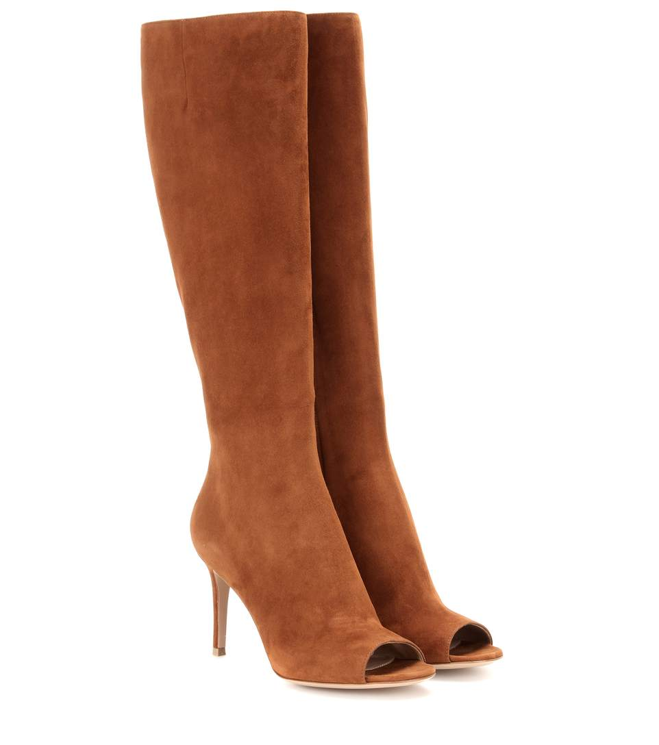 Gianvito Rossi Mytheresa.Com Exclusive Open-Toe Suede Boots