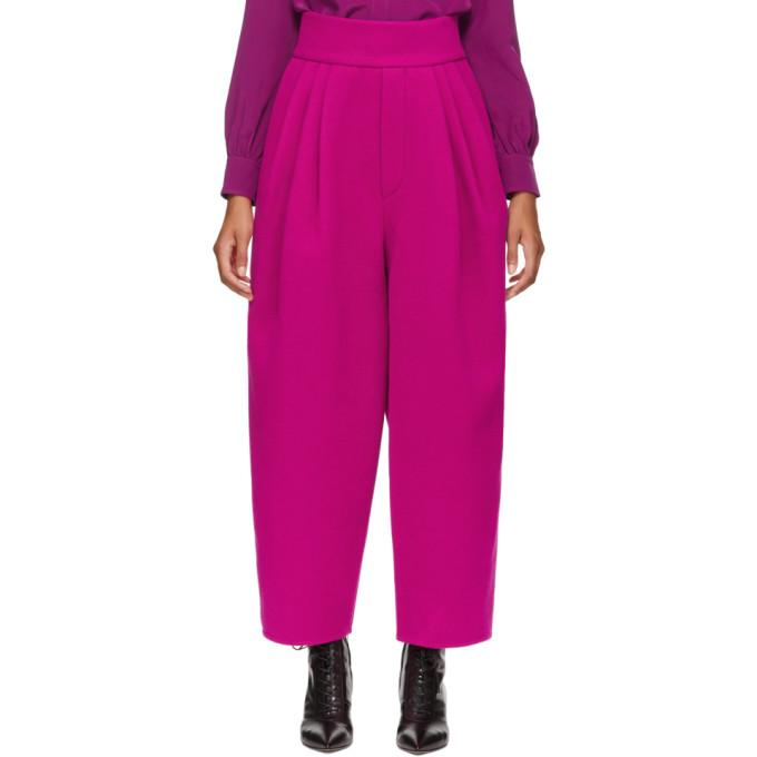 Marc Jacobs Pink High-Waisted Trousers In 672 Hotpink