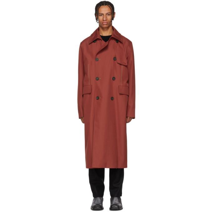 Acne Studios Oversized Trench Coat Red