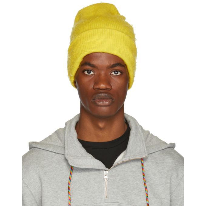 9bce333a6f5 Acne Studios Yellow Wool   Cashmere Beanie