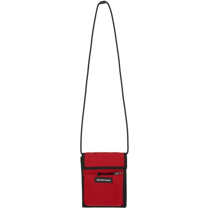 f8a106b664 Balenciaga Red Explorer Pouch In 6464 Red | ModeSens
