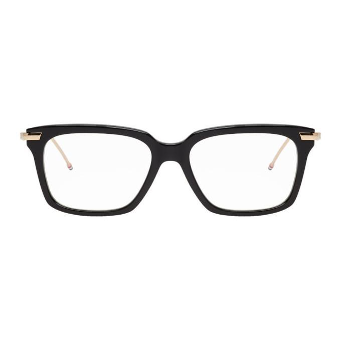 25021ee77b2f Thom Browne Black   Gold Tb-701 Glasses