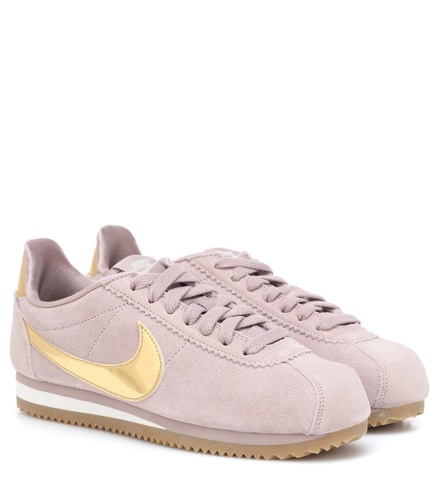 cheap for discount 47cee f7c50 Nike Classic Cortez Suede Sneakers In Pink