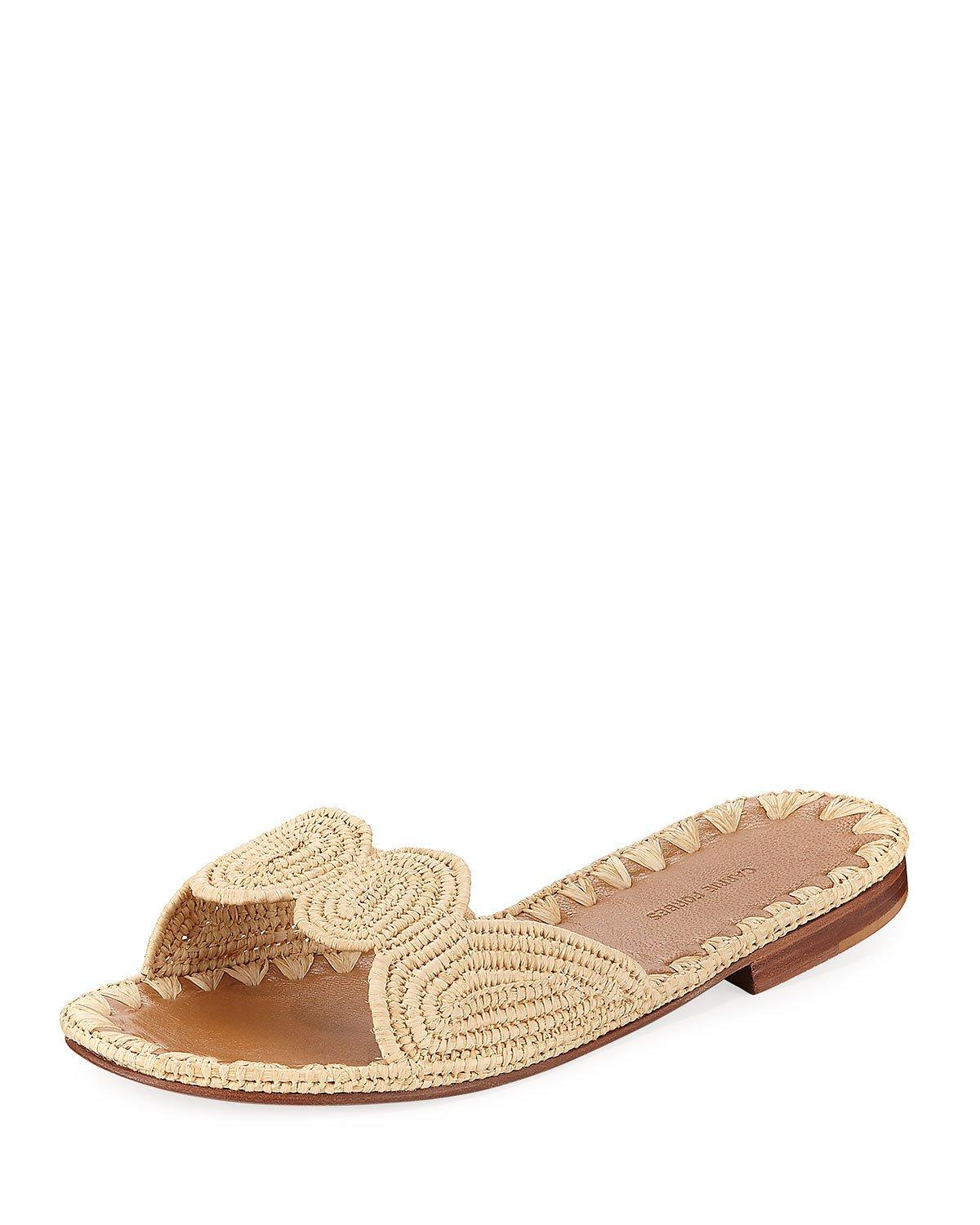 9637743e0c9 Carrie Forbes Naima Woven Raffia Slide Sandals