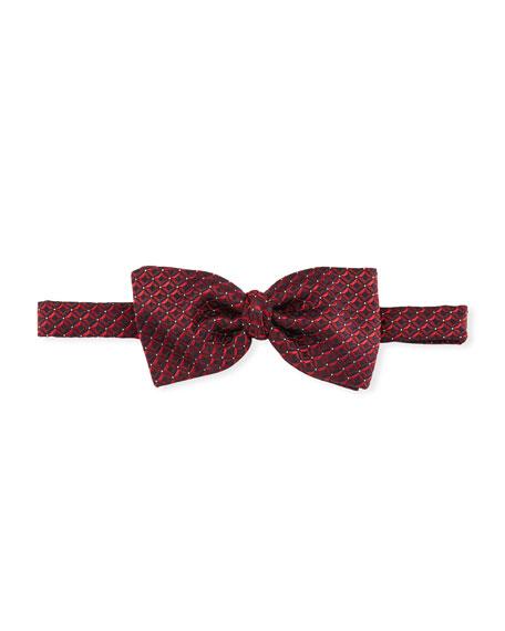 Ermenegildo Zegna 3D Box Silk Tie, Red