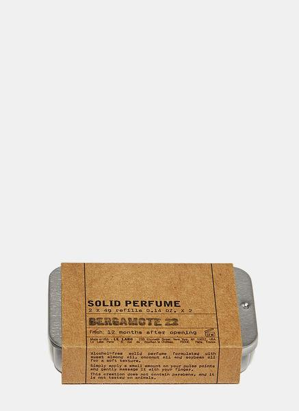 Le Labo Bergamote 22 Solid Perfume Refill Kit In Black