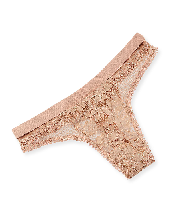 7cd00720ef38 Else Petunia Sporty Lace Thong In Light Pink | ModeSens