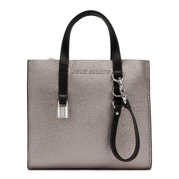 Marc Jacobs Grind Mini Silver Leather Tote