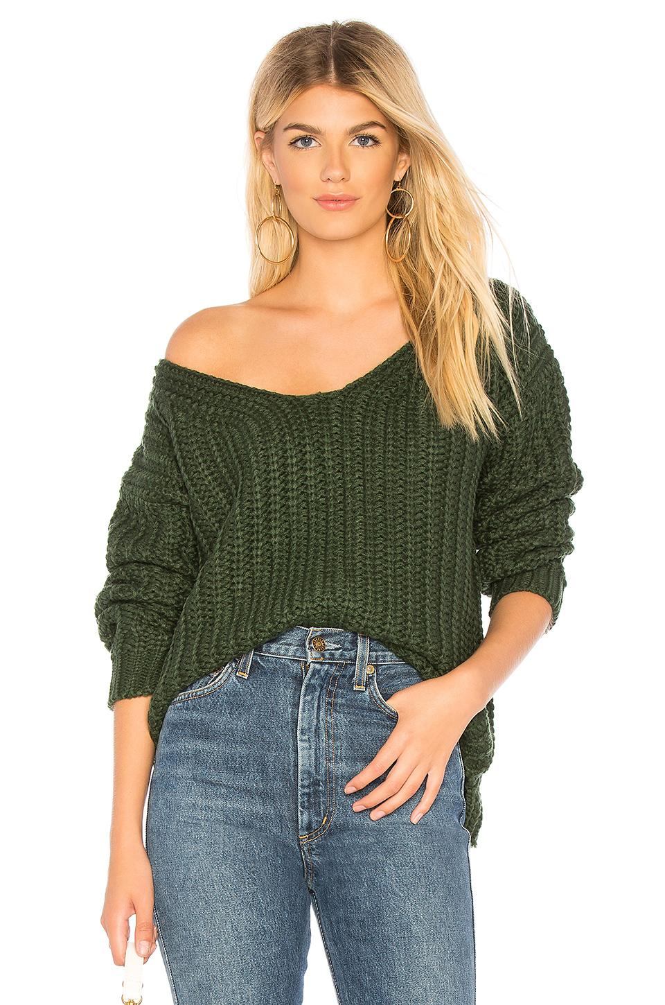 Majorelle Chunky Sweater In Green.
