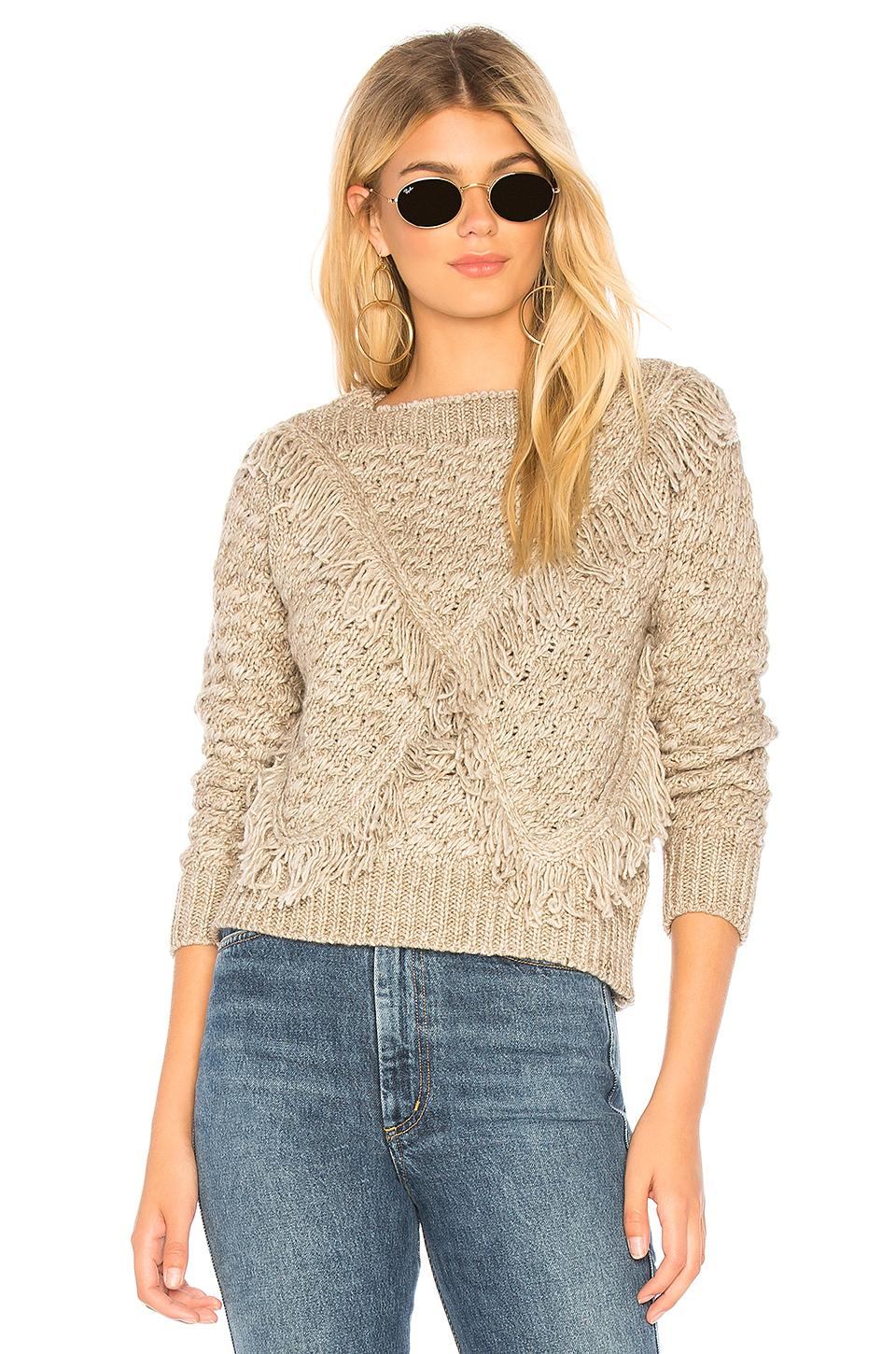 Majorelle Cable Knit Sweater In Grey.