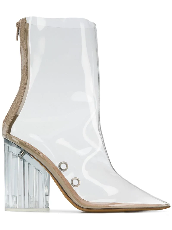 164639c8 Yeezy Pvc High-Heeled Ankle Boots In Neutrals