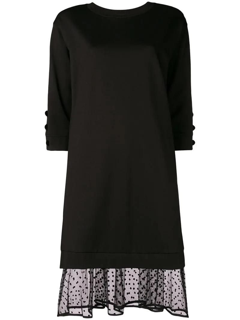 Twinset 'sweatshirt' Dress In Black