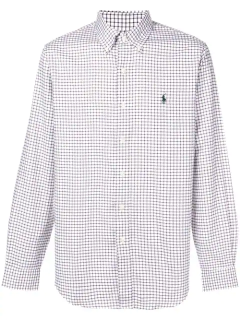 Polo Ralph Lauren Button Down Checked Shirt - Brown