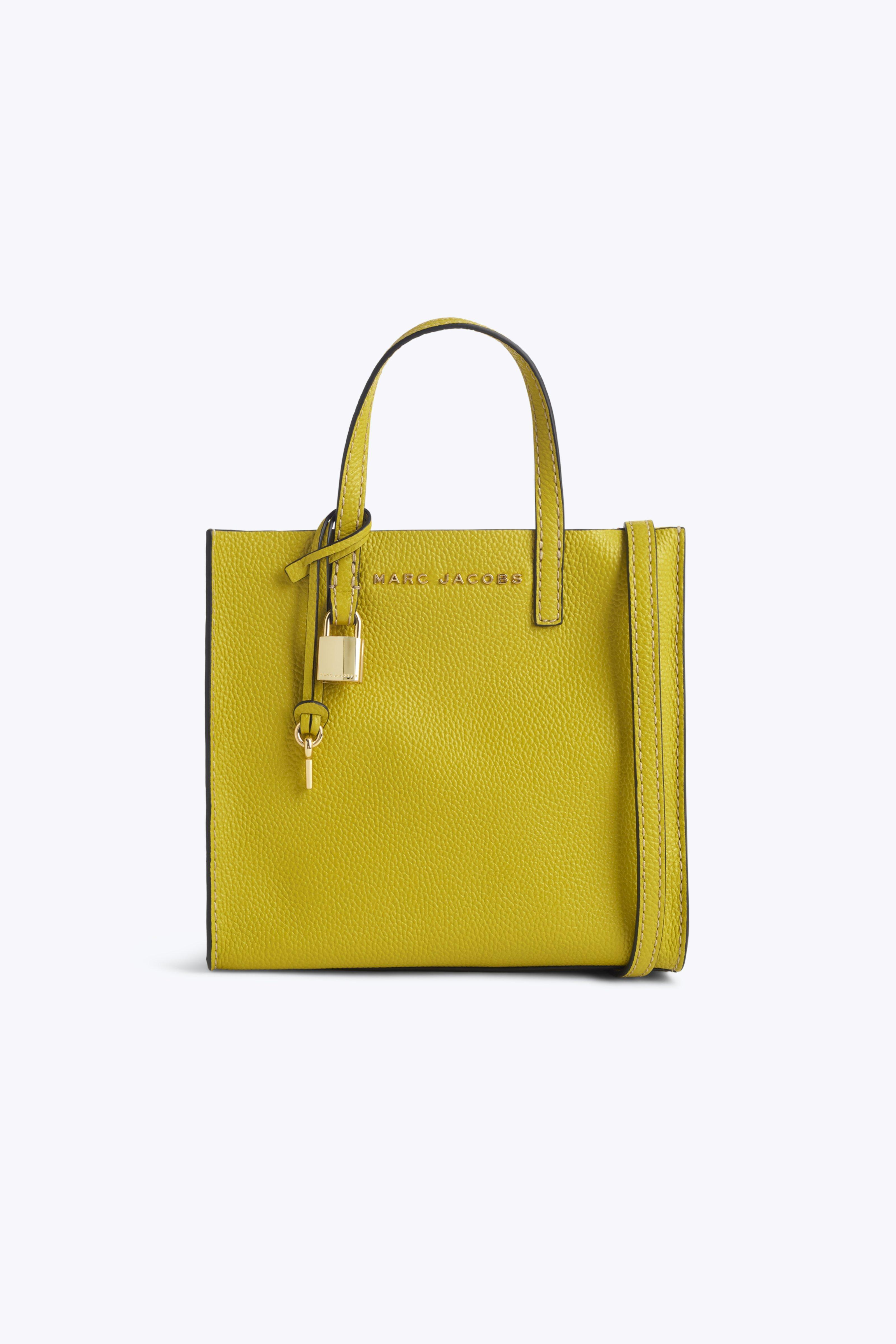 f6192e67955 Marc Jacobs The Grind Mini Colorblock Leather Tote - Green In Yellow ...
