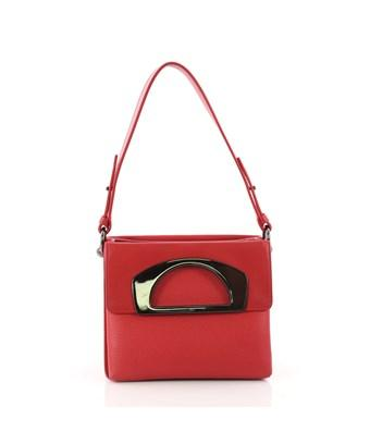 c1424f21170 Pre-Owned: Passage Convertible Messenger Bag Leather Mini in Red
