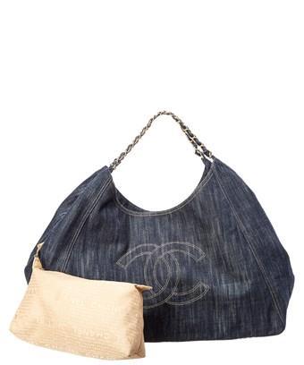 94f7c47f5772 Chanel Limited Edition Blue Denim Xl Coco Cabas Bag In Nocolor ...
