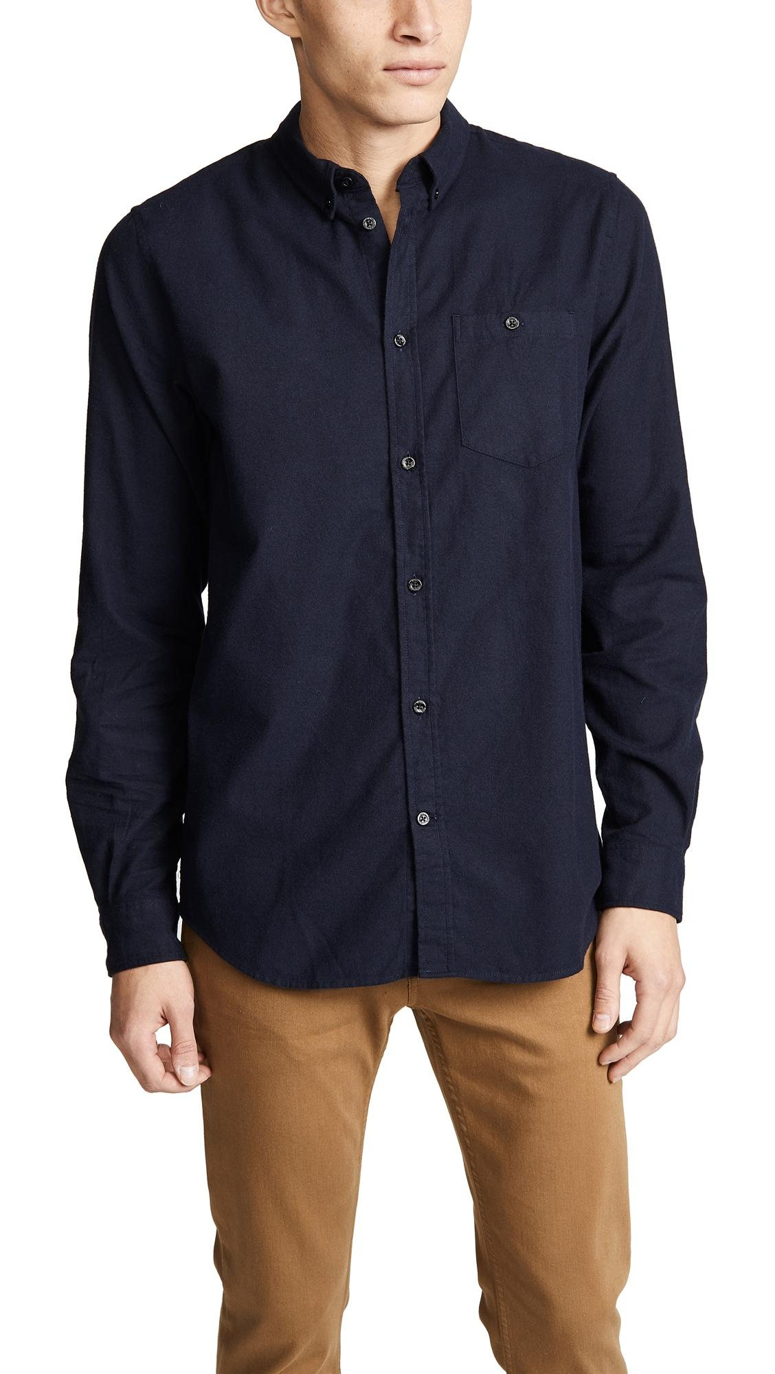17b7a1f3e6b Norse Projects Anton Brushed Flannel Shirt In Magnet Grey | ModeSens