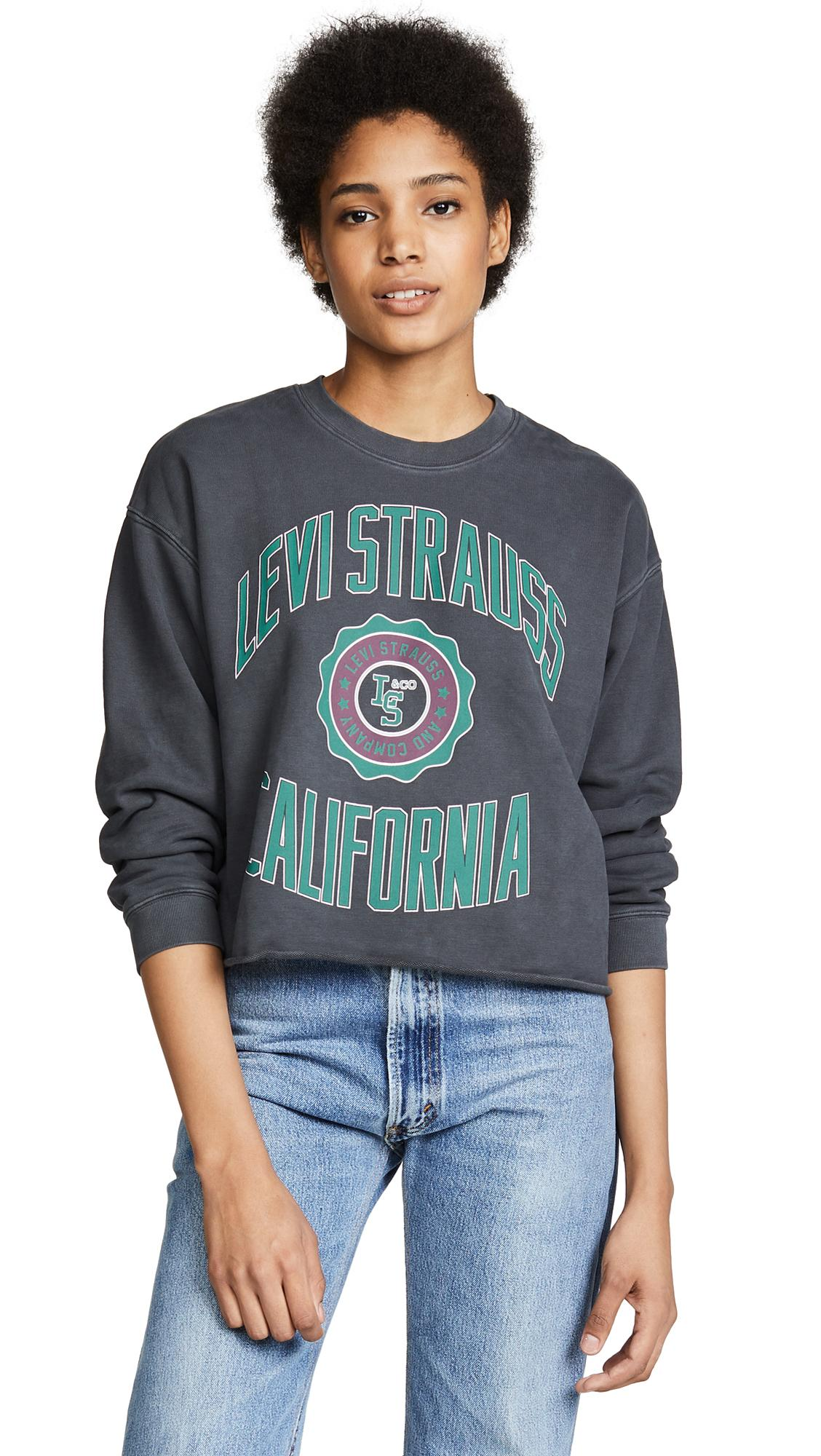 7865abb2 Levi's Graphic Raw Cut Sweatshirt In Varsity Caviar | ModeSens