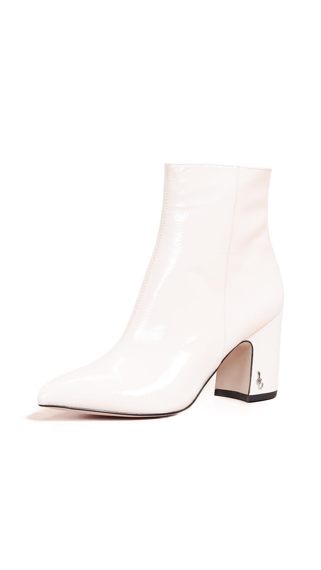 18fa65d49 Sam Edelman Hilty Booties In Bright White