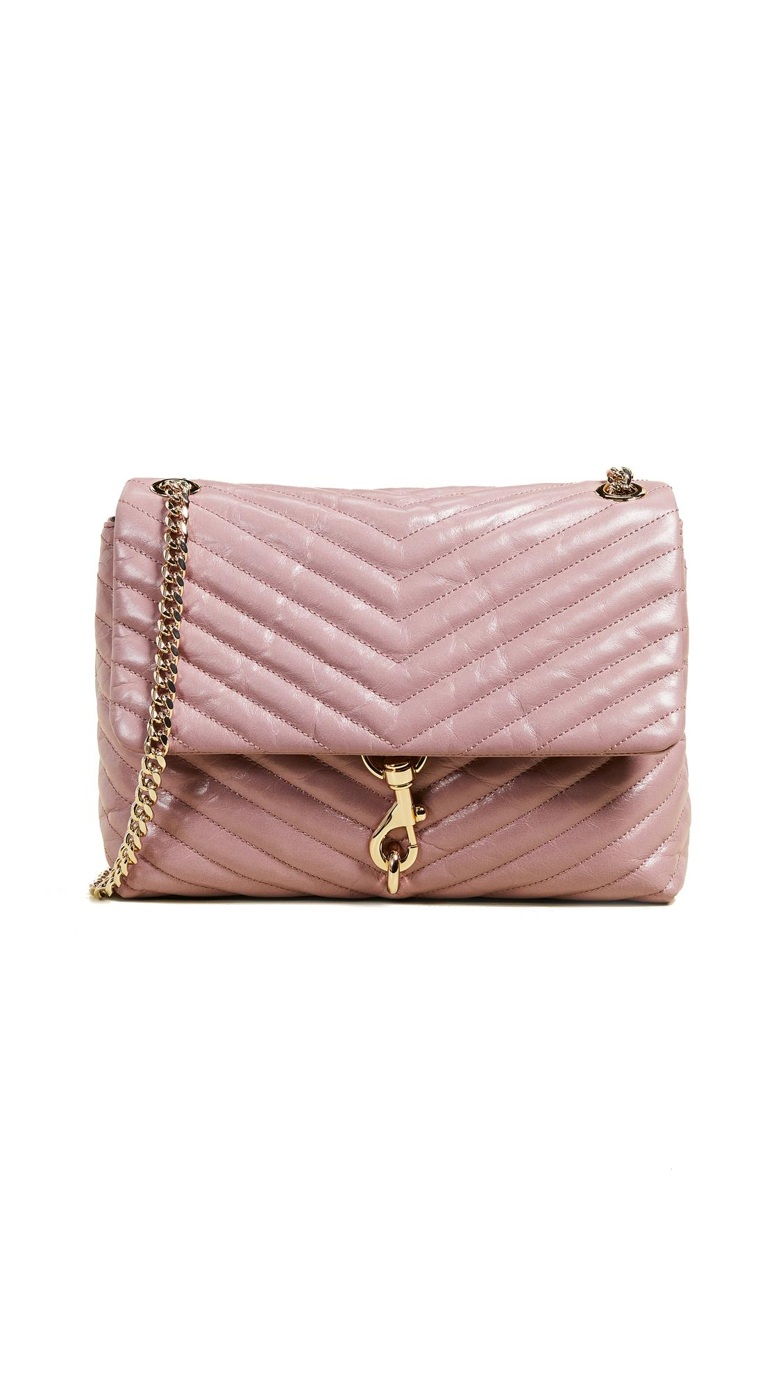 a0539f5dff29 Rebecca Minkoff Edie Quilted Shoulder Bag In Mink