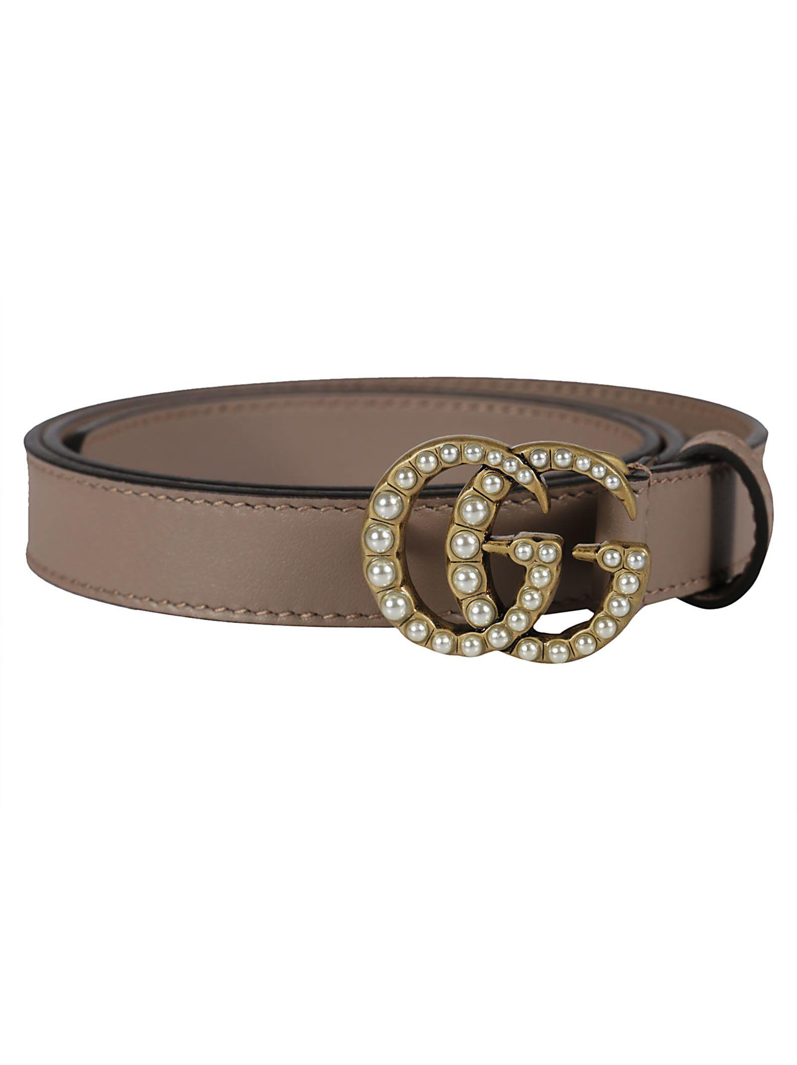 0dc61acbe78 Gucci Pearl Double G Belt In Porcelain Rose