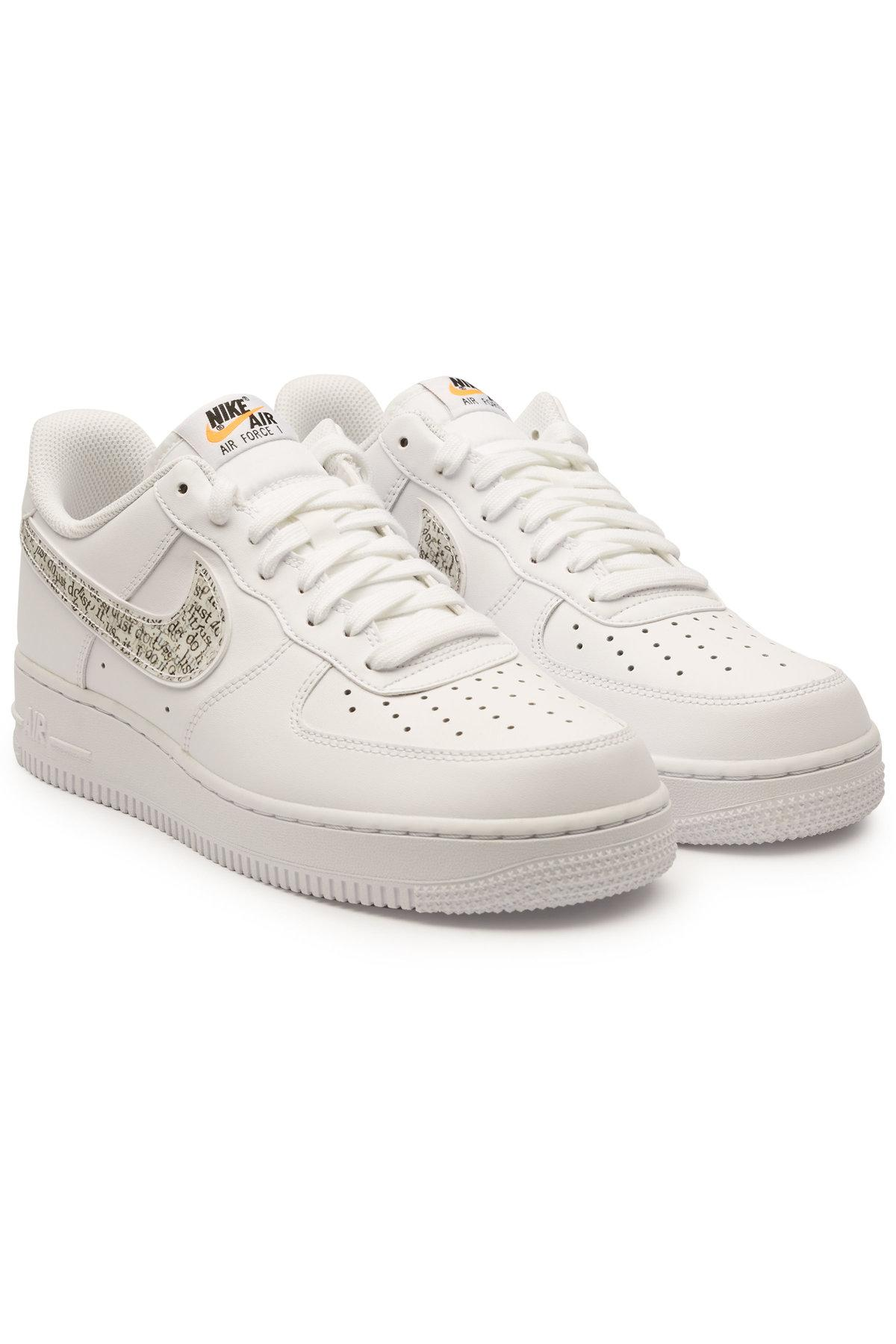 Nike Air Force 1 '07 Lv8 Jdi Lntc Leather Sneakers In White