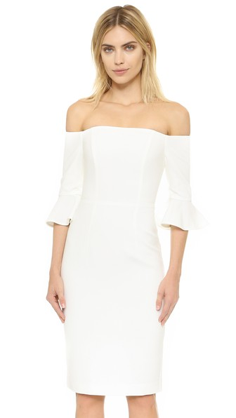 afad2daa Black Halo Madigan Sheath Dress In Porcelain | ModeSens