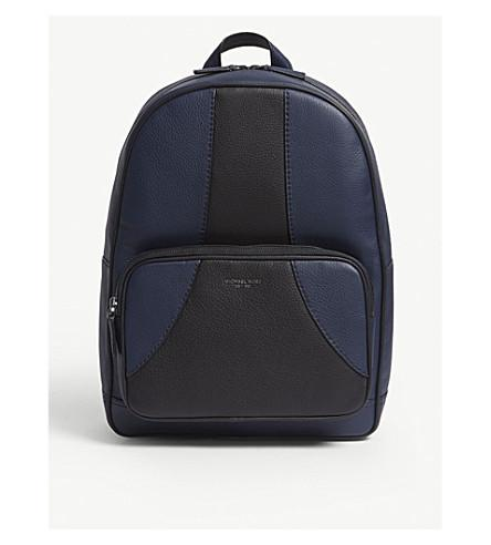 feca009fb53f Michael Kors Bryant Leather Backpack In Blue | ModeSens