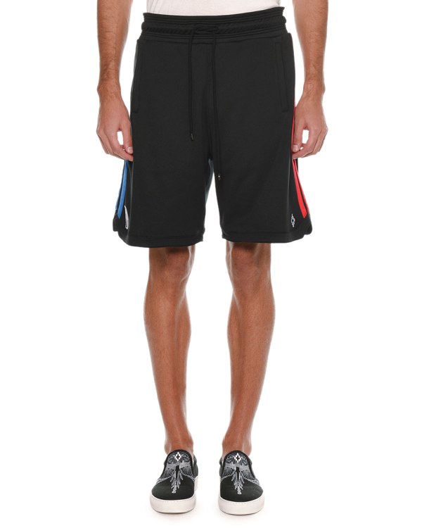 Marcelo Burlon County Of Milan Men's Nba Graphic Band Sweat Shorts In Black