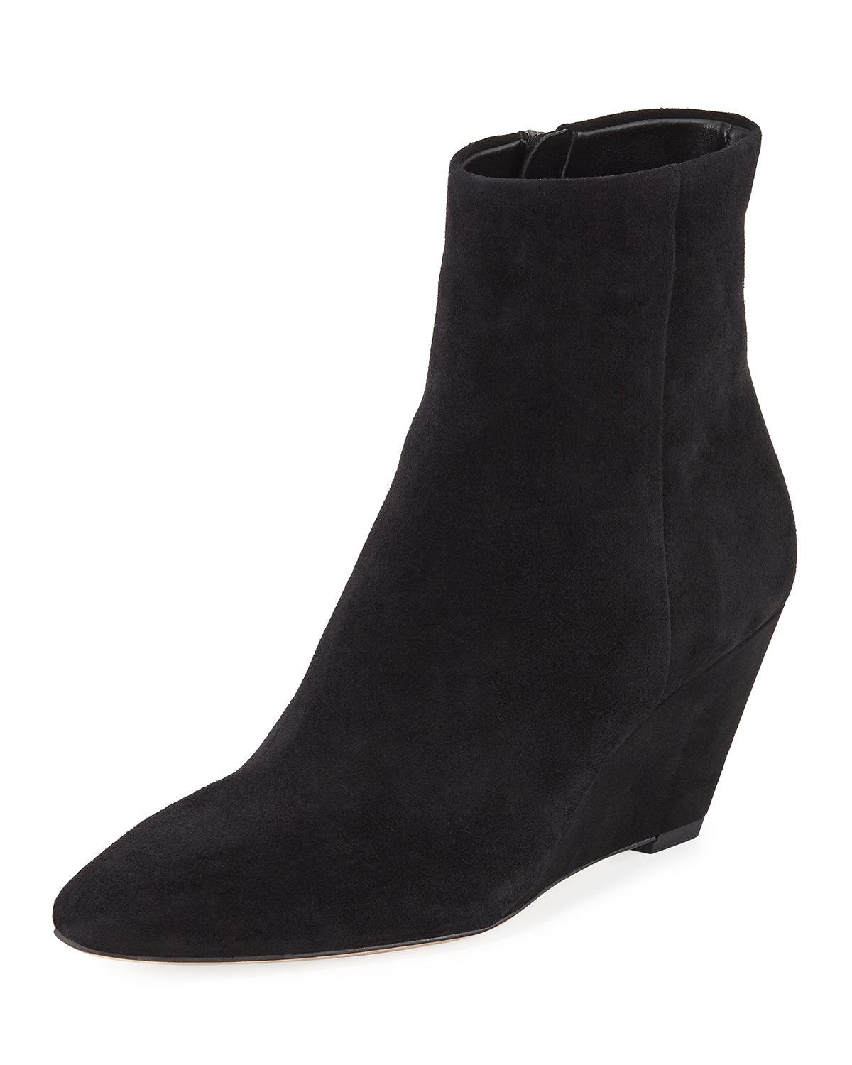 23aad6b1472 Donald J Pliner Women s Jae Suede Wedge Booties In Black