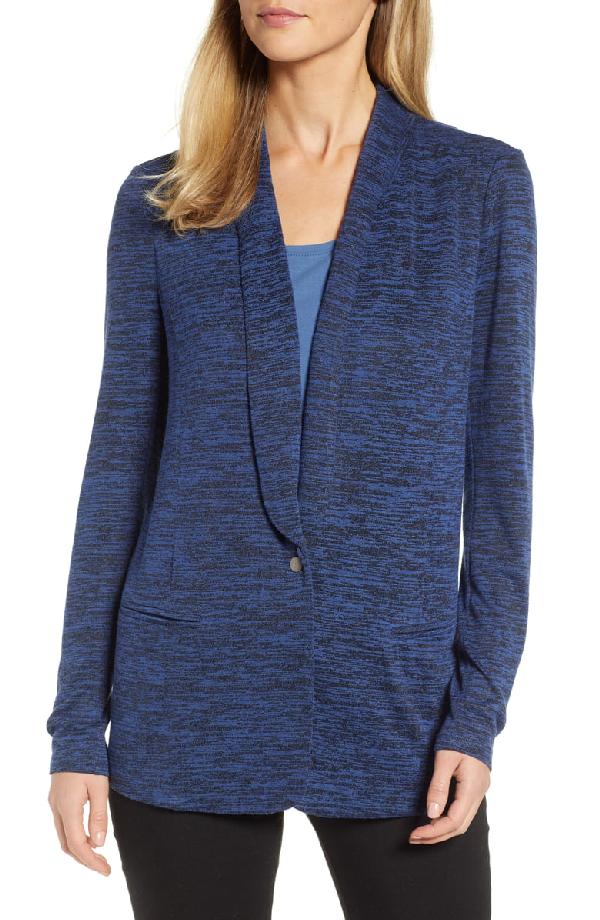 Nic + Zoe Every Occasion Melange Knit Blazer Jacket, Plus Size In Mineral