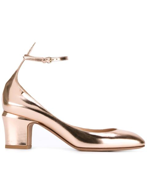 Valentino Tango Metallic Leather Pumps
